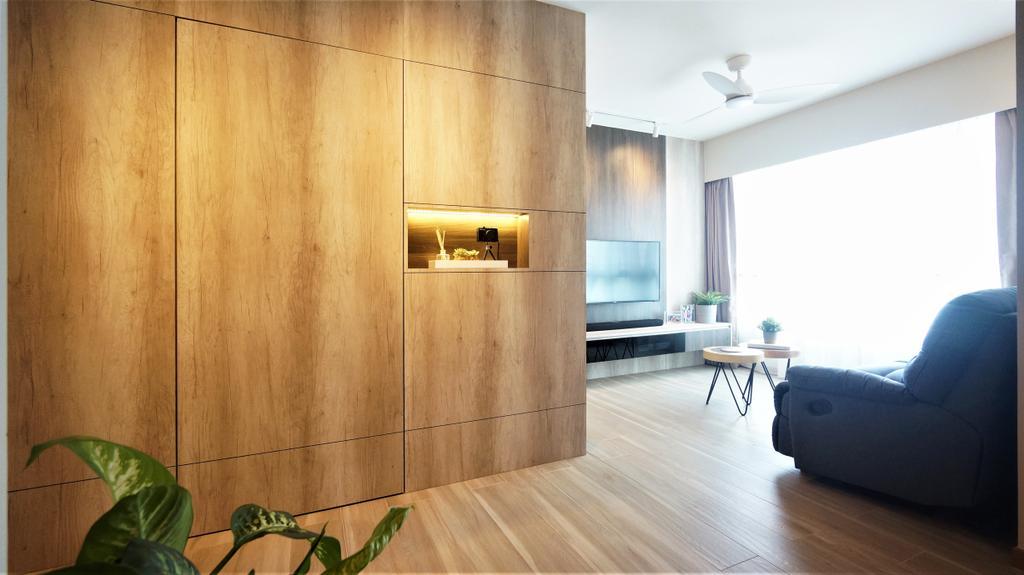 Modern, HDB, Living Room, Bedok North Road, Interior Designer, Space Atelier, Contemporary
