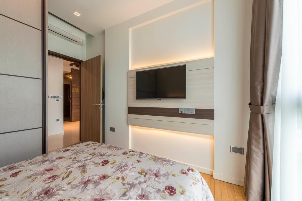 Contemporary, HDB, Bedroom, Canberra Drive, Interior Designer, U-Home Interior Design