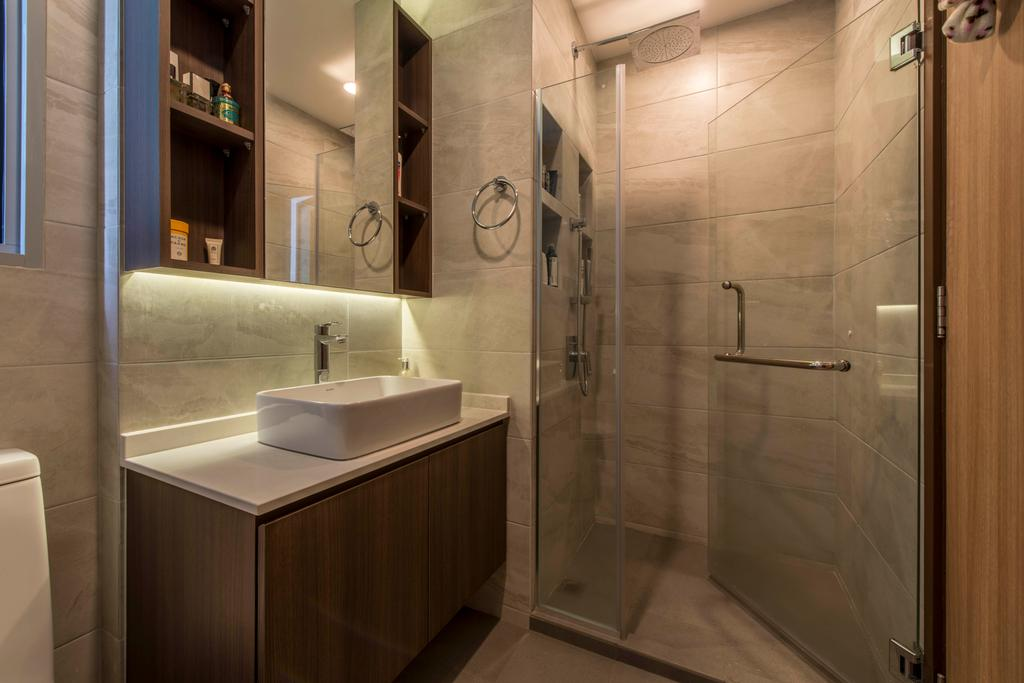 Contemporary, HDB, Bathroom, Canberra Drive, Interior Designer, U-Home Interior Design