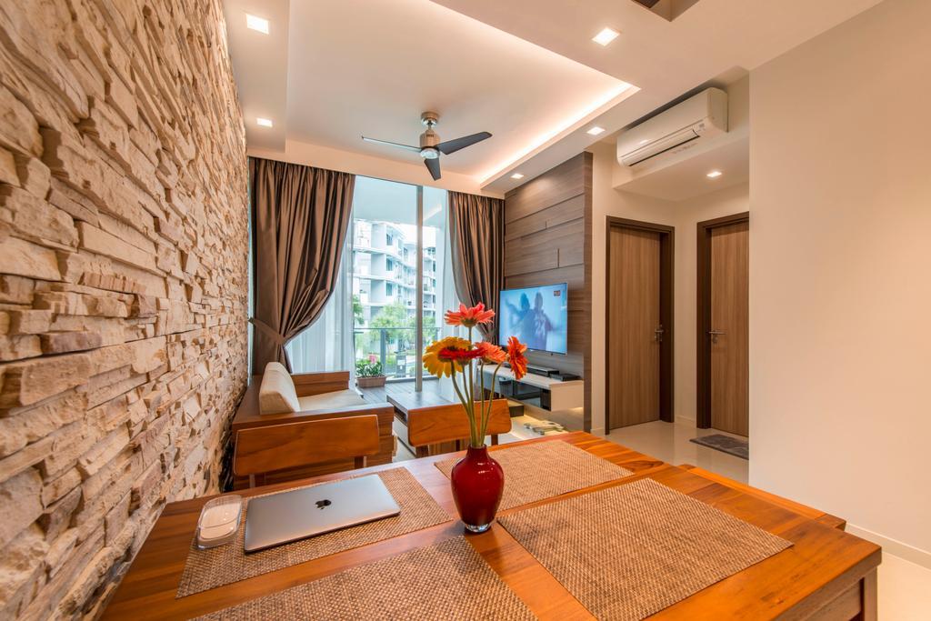 Contemporary, HDB, Living Room, Canberra Drive, Interior Designer, U-Home Interior Design