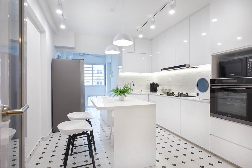 Modern, HDB, Kitchen, Jalan Tenaga, Interior Designer, Jubilee Interior, Scandinavian