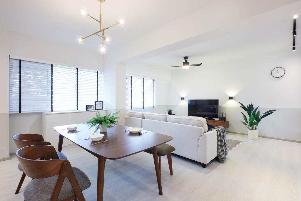Modern, HDB, Living Room, Jalan Tenaga, Interior Designer, Jubilee Interior, Scandinavian
