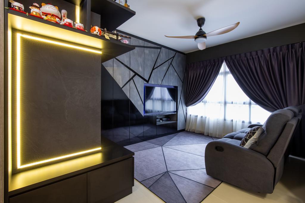 Modern, HDB, Living Room, Sengkang West Road, Interior Designer, Ace's Design