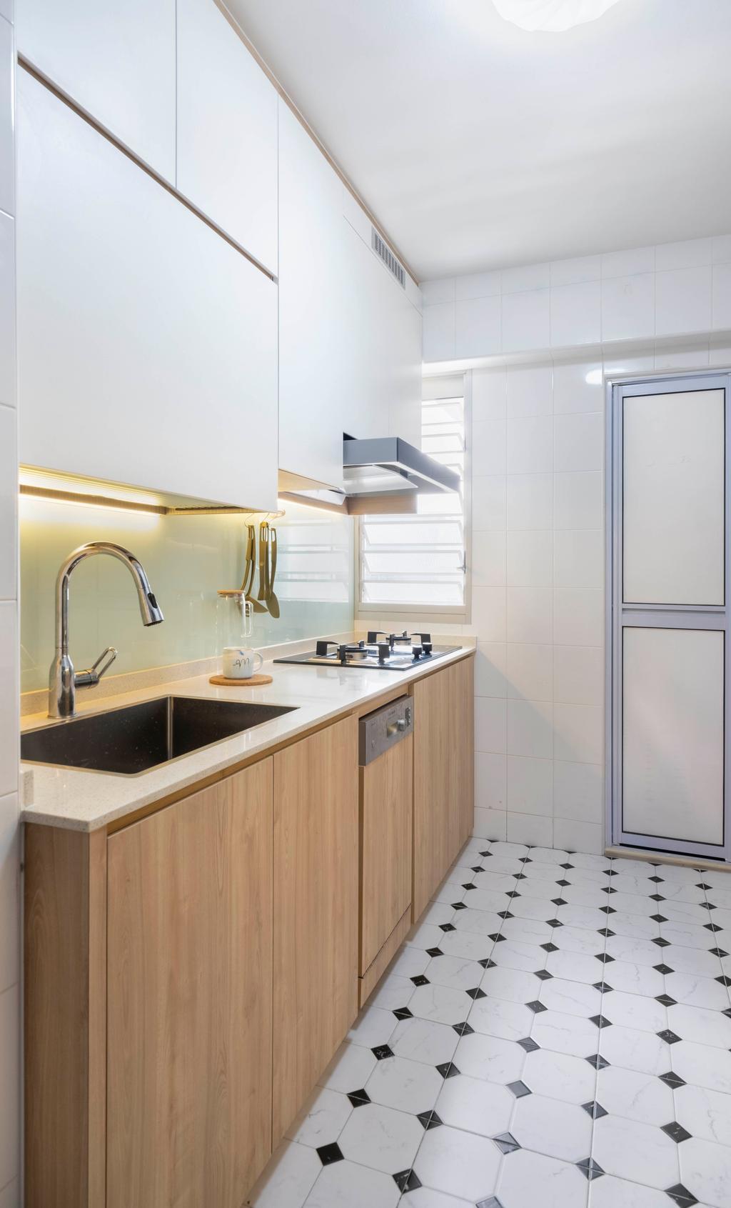 Scandinavian, HDB, Kitchen, Ghim Moh Link, Interior Designer, Starry Homestead
