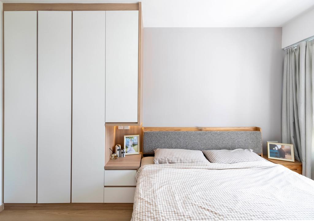 Scandinavian, HDB, Bedroom, Ghim Moh Link, Interior Designer, Starry Homestead