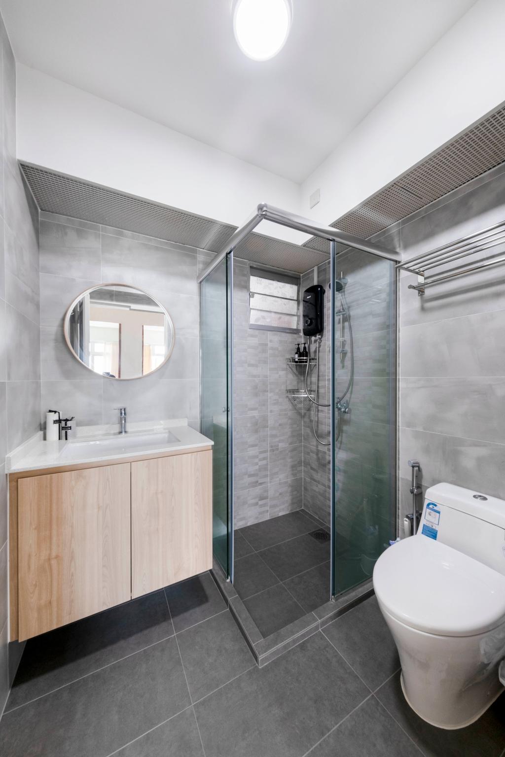Scandinavian, HDB, Bathroom, Ghim Moh Link, Interior Designer, Starry Homestead