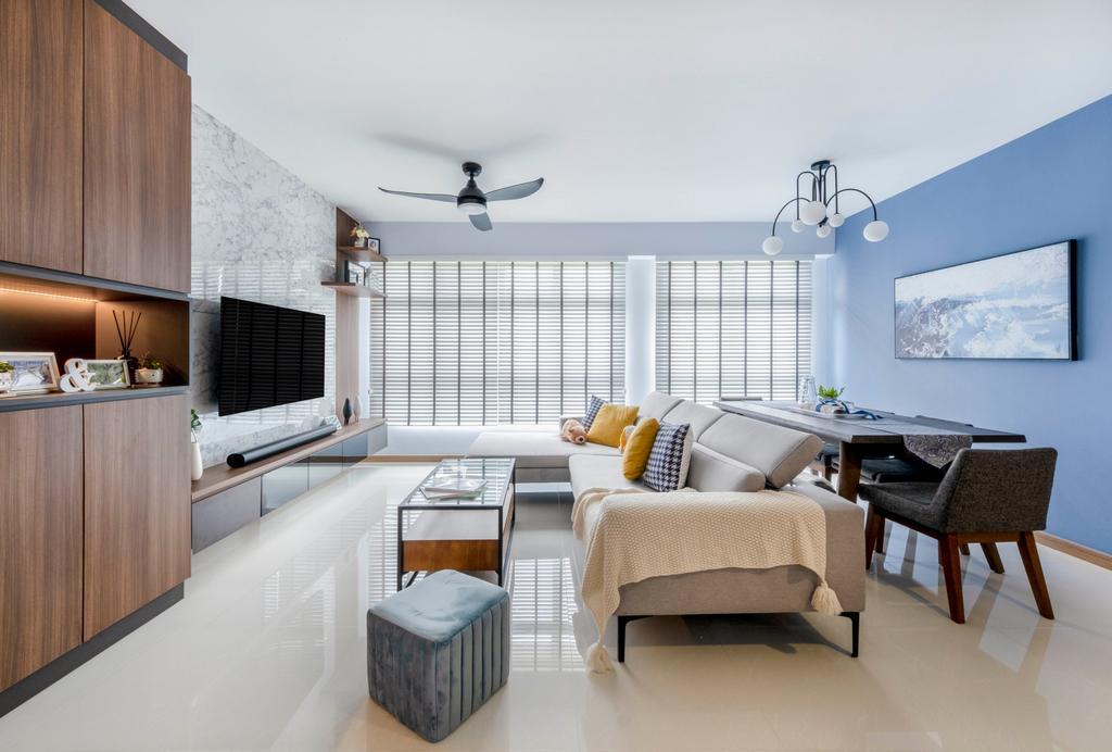 Modern, HDB, Living Room, Anchorvale Lane, Interior Designer, Starry Homestead, Scandinavian
