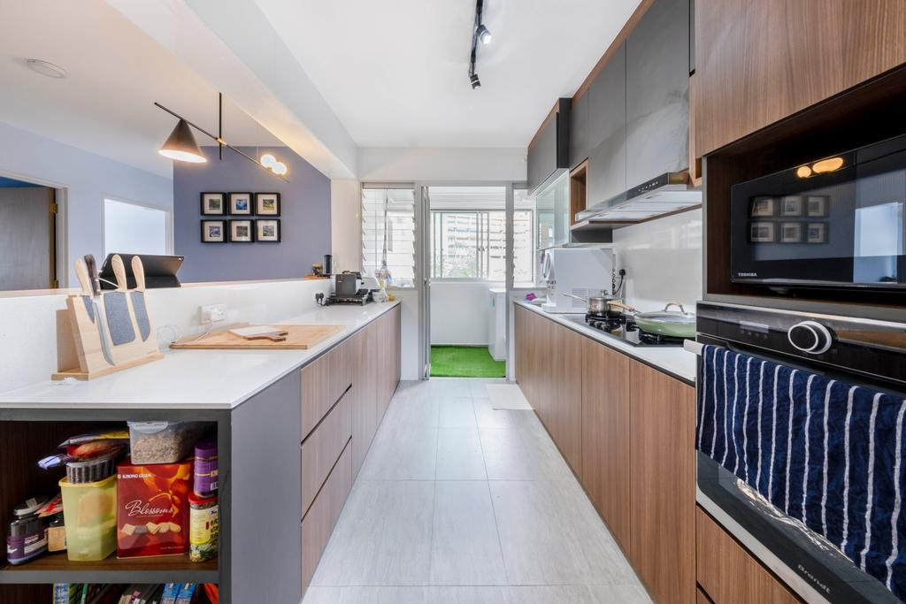 Modern, HDB, Kitchen, Anchorvale Lane, Interior Designer, Starry Homestead, Scandinavian
