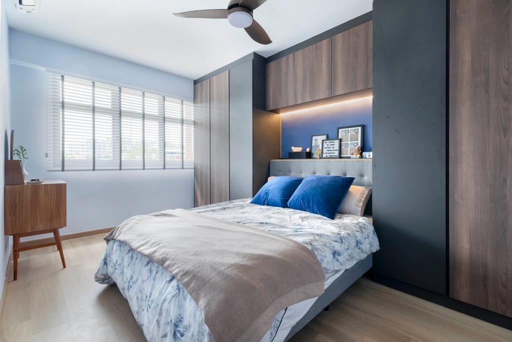 Modern, HDB, Bedroom, Anchorvale Lane, Interior Designer, Starry Homestead, Scandinavian
