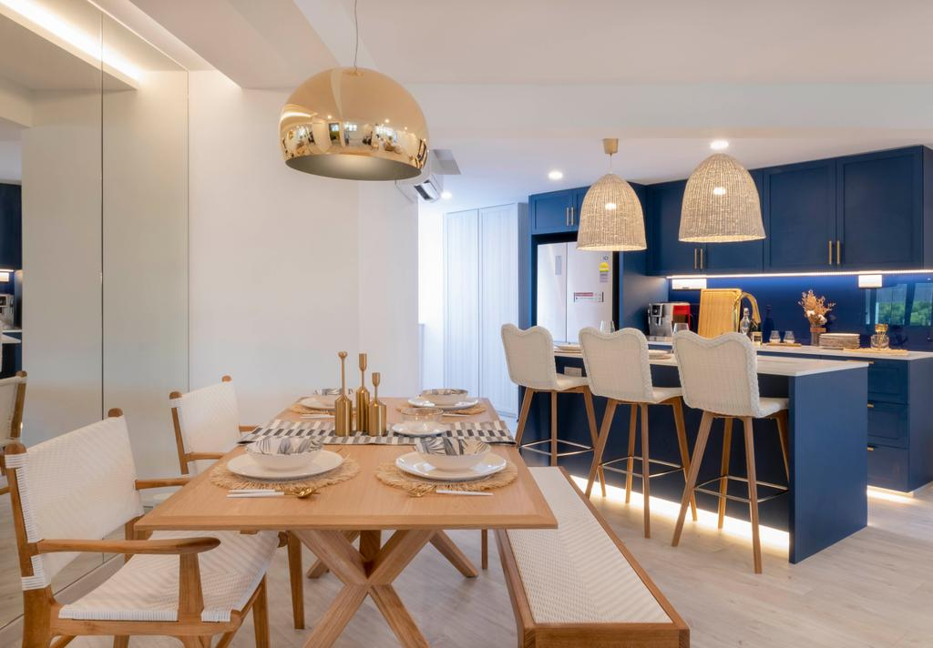 Scandinavian, HDB, Dining Room, Potong Pasir, Interior Designer, Starry Homestead