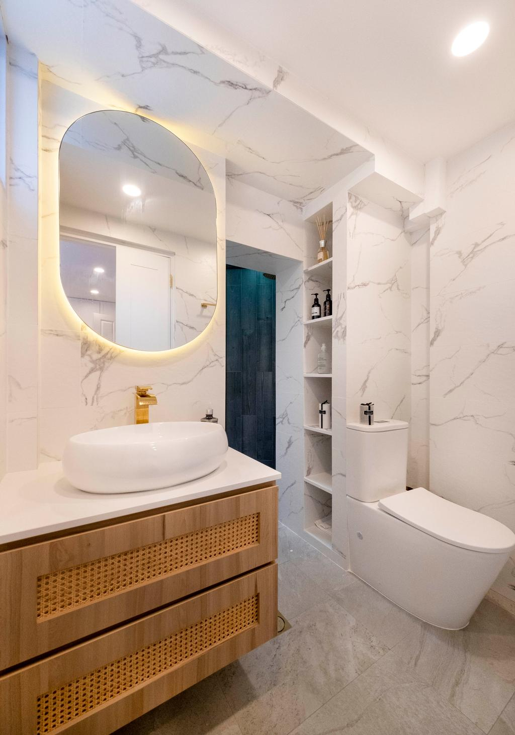 Scandinavian, HDB, Bathroom, Potong Pasir, Interior Designer, Starry Homestead