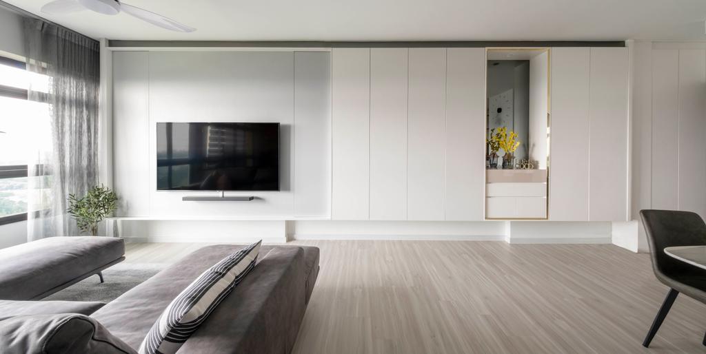 Modern, HDB, Living Room, Senja Road, Interior Designer, Starry Homestead