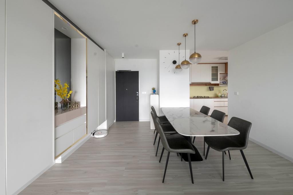 Modern, HDB, Dining Room, Senja Road, Interior Designer, Starry Homestead