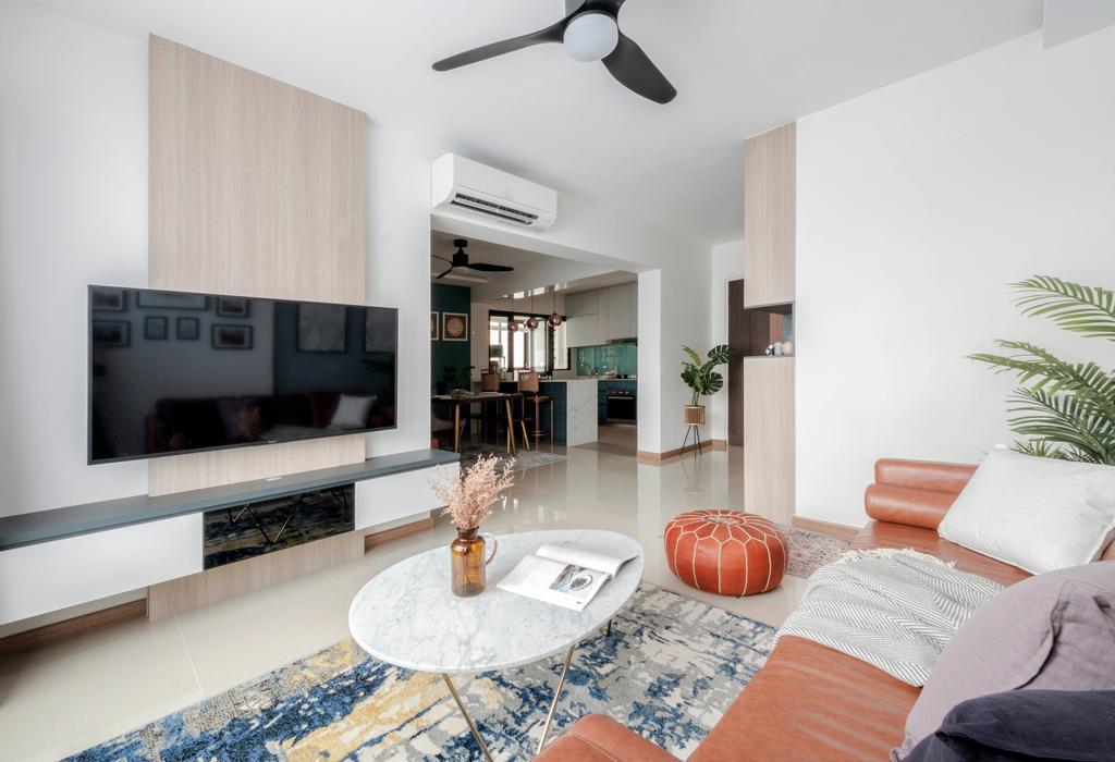 Eclectic, HDB, Living Room, Sengkang West Road, Interior Designer, Starry Homestead, Contemporary