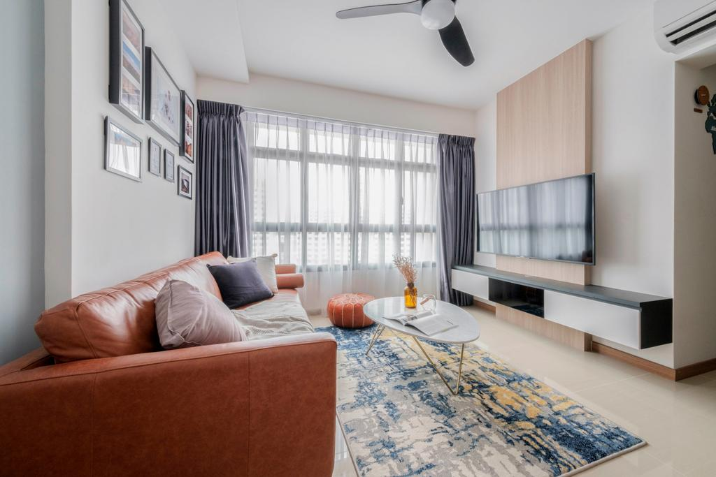 Eclectic, HDB, Living Room, Sengkang West Road, Interior Designer, Starry Homestead, Contemporary