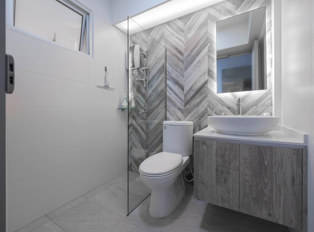 Minimalistic, HDB, Bathroom, Jalan Membina, Interior Designer, Starry Homestead, Industrial