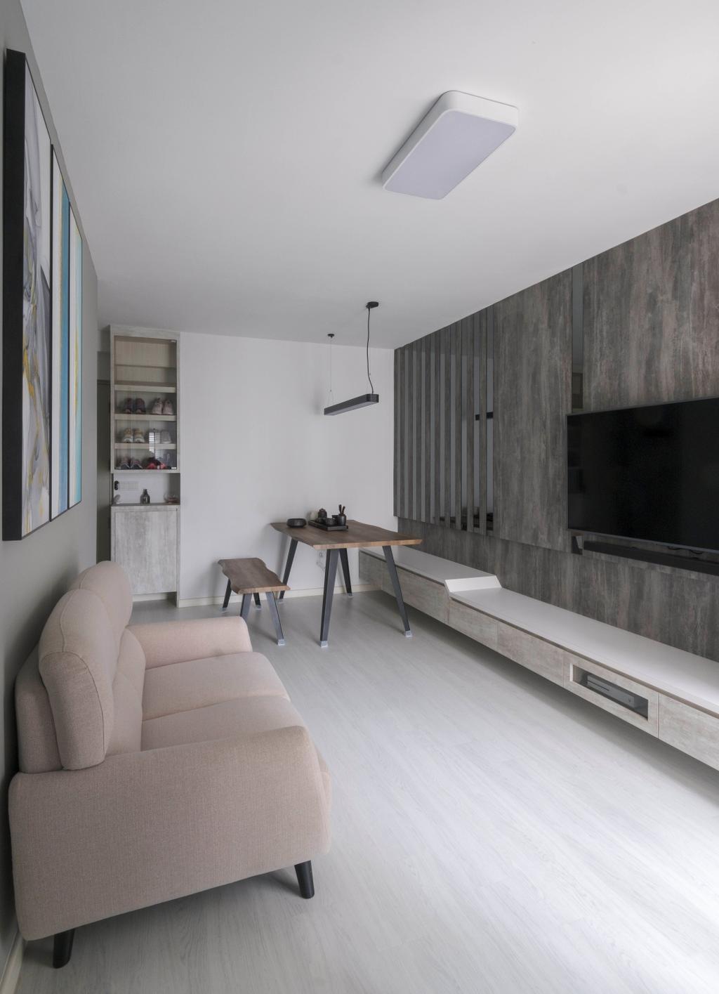 Minimalistic, HDB, Living Room, Jalan Membina, Interior Designer, Starry Homestead, Industrial
