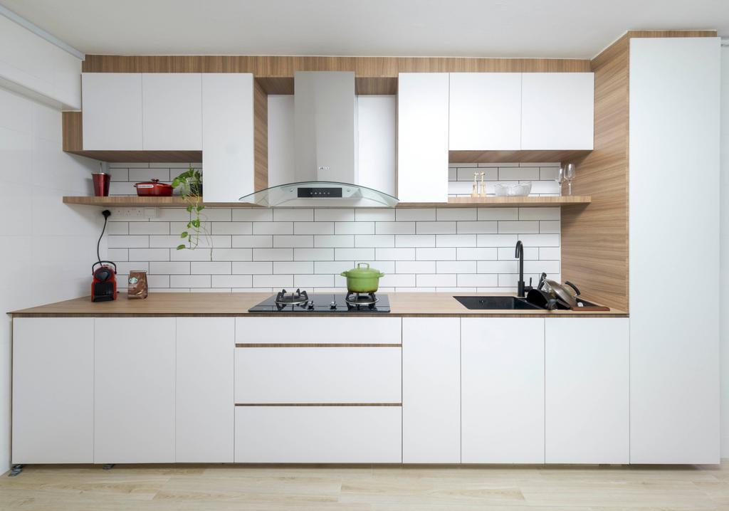 Scandinavian, HDB, Kitchen, Shunfu Road, Interior Designer, Starry Homestead
