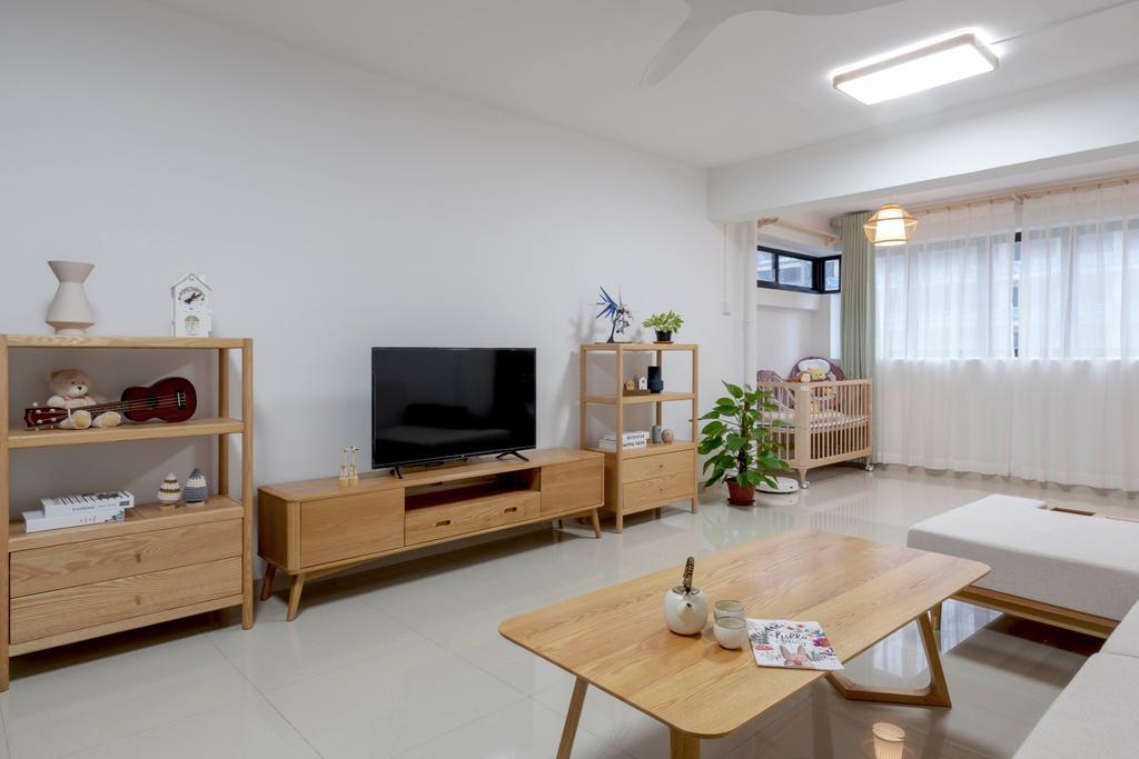 Scandinavian, HDB, Living Room, Shunfu Road, Interior Designer, Starry Homestead