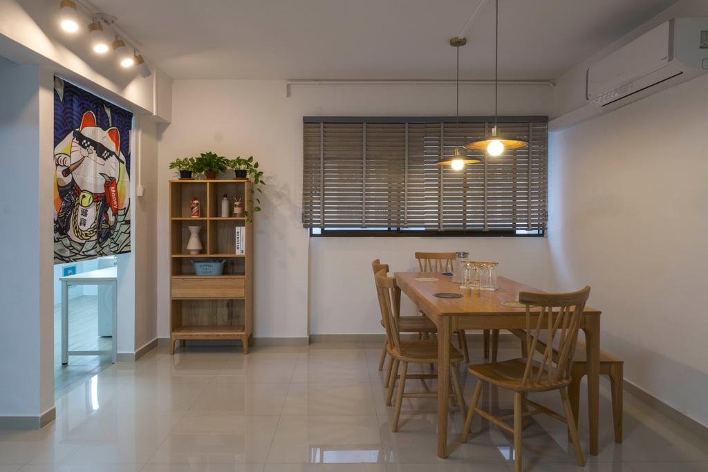 Scandinavian, HDB, Dining Room, Shunfu Road, Interior Designer, Starry Homestead
