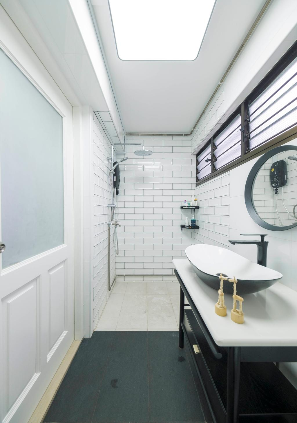 Scandinavian, HDB, Bathroom, Shunfu Road, Interior Designer, Starry Homestead