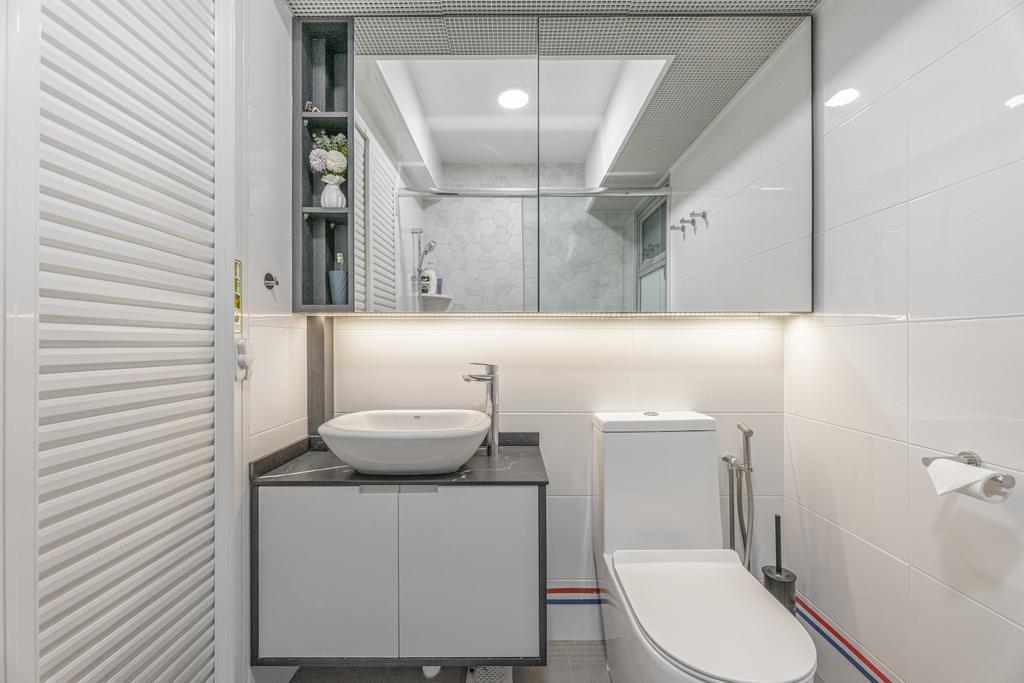 Contemporary, HDB, Bathroom, Anchorvale Lane, Interior Designer, Luova Project Services