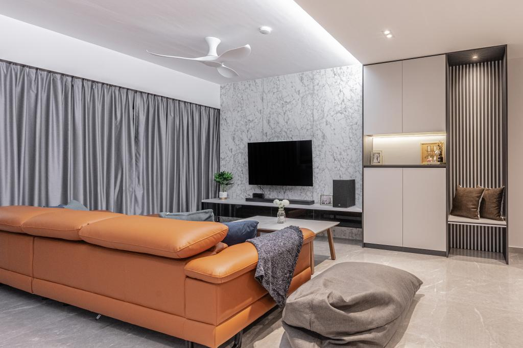 Contemporary, HDB, Living Room, Anchorvale Lane, Interior Designer, Luova Project Services