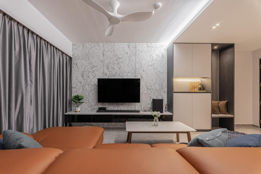 Contemporary, HDB, Living Room, Anchorvale Lane, Interior Designer, Luova Project Services