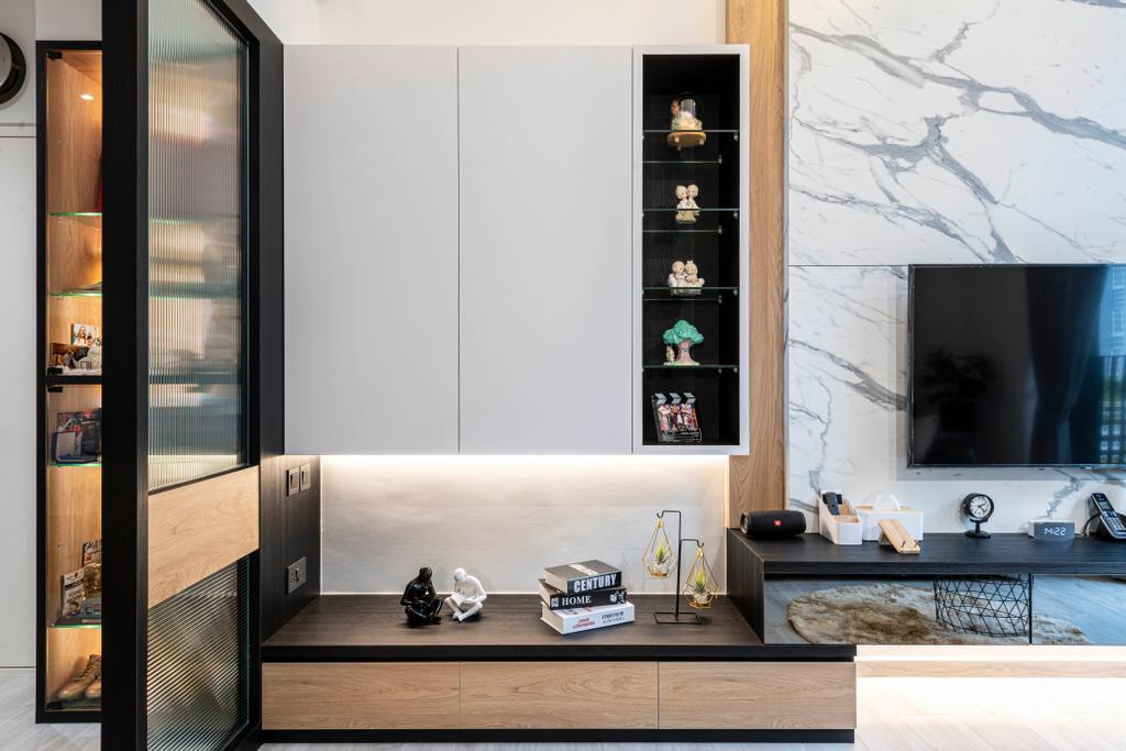 Modern, HDB, Living Room, Sky Terrace @ Dawson, Interior Designer, Meter Square, Contemporary