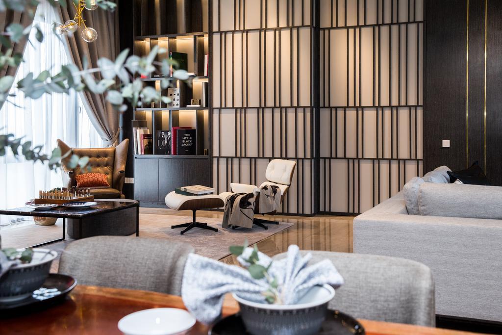 Contemporary, Condo, Living Room, SERAI, Bukit Bandaraya, Interior Designer, MIL Design & Construction