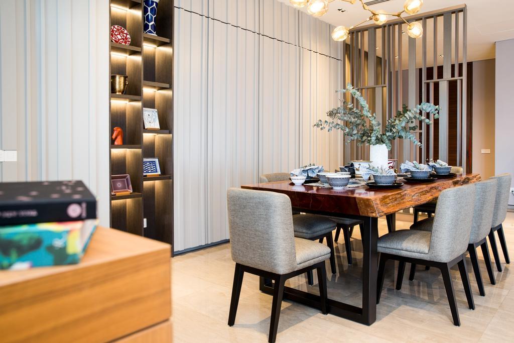 Contemporary, Condo, Dining Room, SERAI, Bukit Bandaraya, Interior Designer, MIL Design & Construction