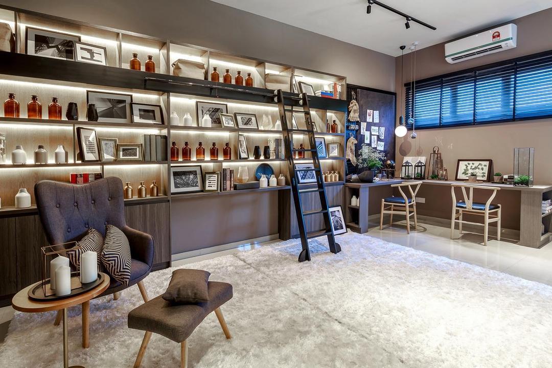 Hanna Home, Jadehills Kajang, MIL Design & Construction, Contemporary, Study, Landed