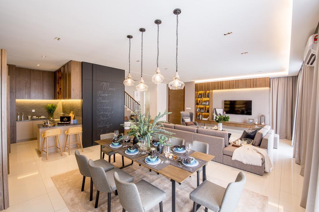 Modern, Landed, Dining Room, Domus Semi-D, Twentyfive.7 Kota Kemuning, Interior Designer, MIL Design & Construction