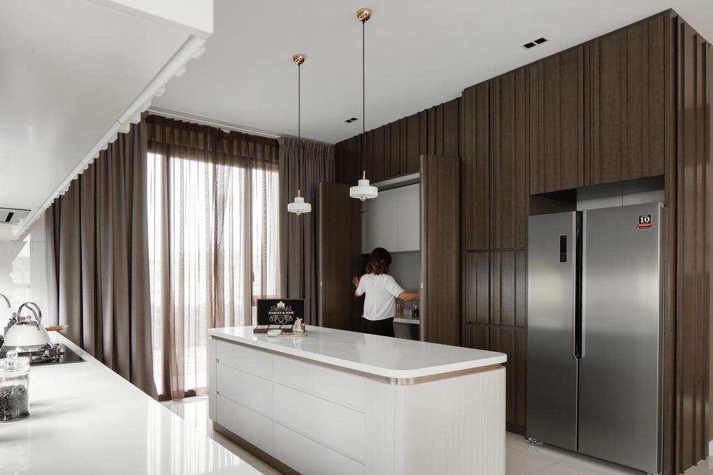 Contemporary, Landed, Kitchen, Blossom Jade Hills, Kajang, Interior Designer, MIL Design & Construction, Modern