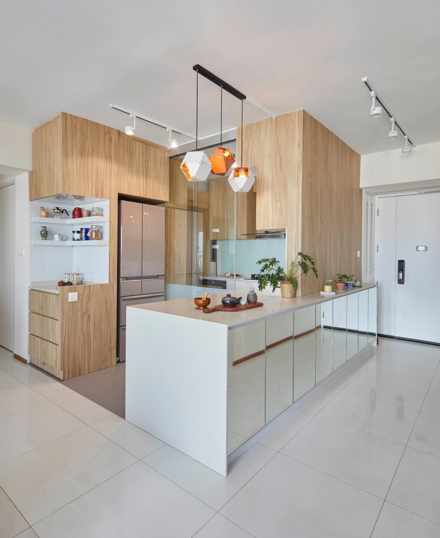 Modern, HDB, Kitchen, Pinnacle @ Duxton, Interior Designer, The Interior Lab, Contemporary