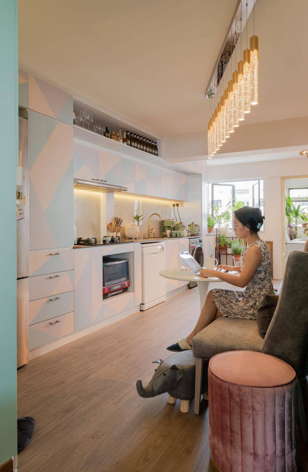 Retro, HDB, Living Room, Marine Terrace (Block 54), Interior Designer, Design Identity, Scandinavian
