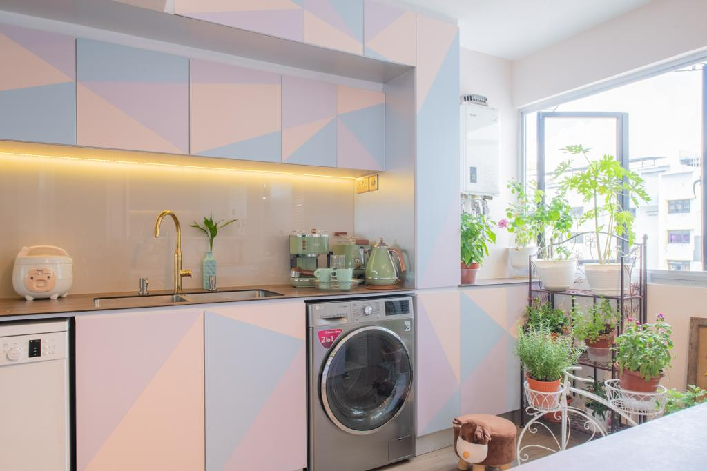 Retro, HDB, Kitchen, Marine Terrace (Block 54), Interior Designer, Design Identity, Scandinavian