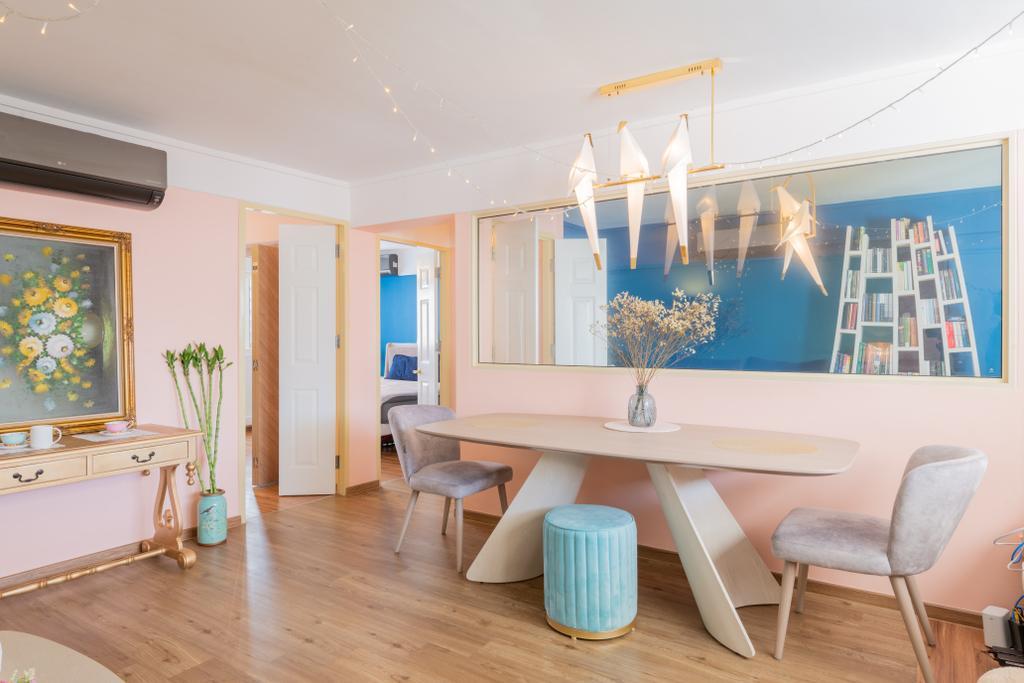 Retro, HDB, Dining Room, Marine Terrace (Block 54), Interior Designer, Design Identity, Scandinavian