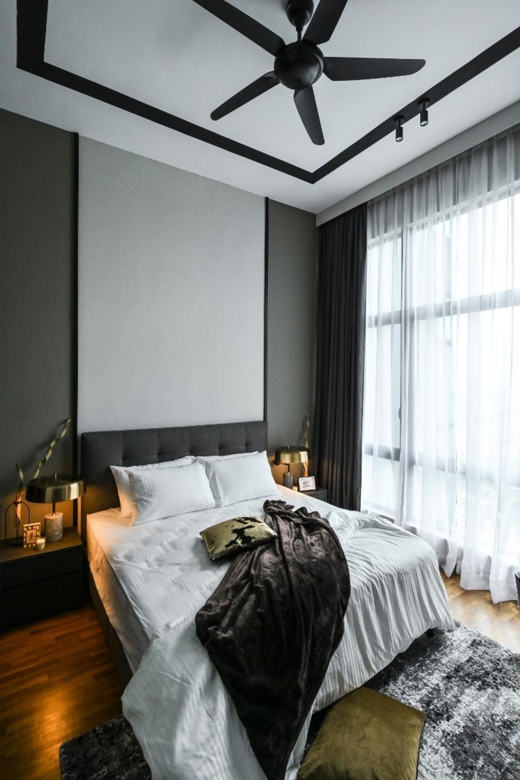 Condo, Bedroom, Tropicana Grande, Petaling Jaya, Interior Designer, Blaine Robert Design Sdn. Bhd.