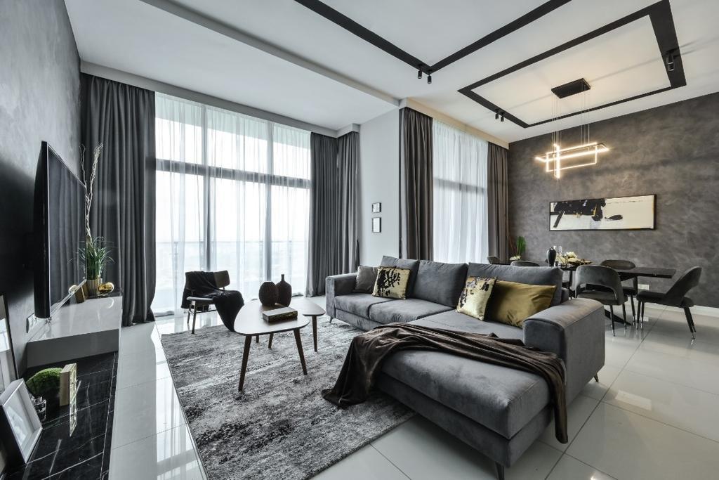 Condo, Living Room, Tropicana Grande, Petaling Jaya, Interior Designer, Blaine Robert Design Sdn. Bhd.