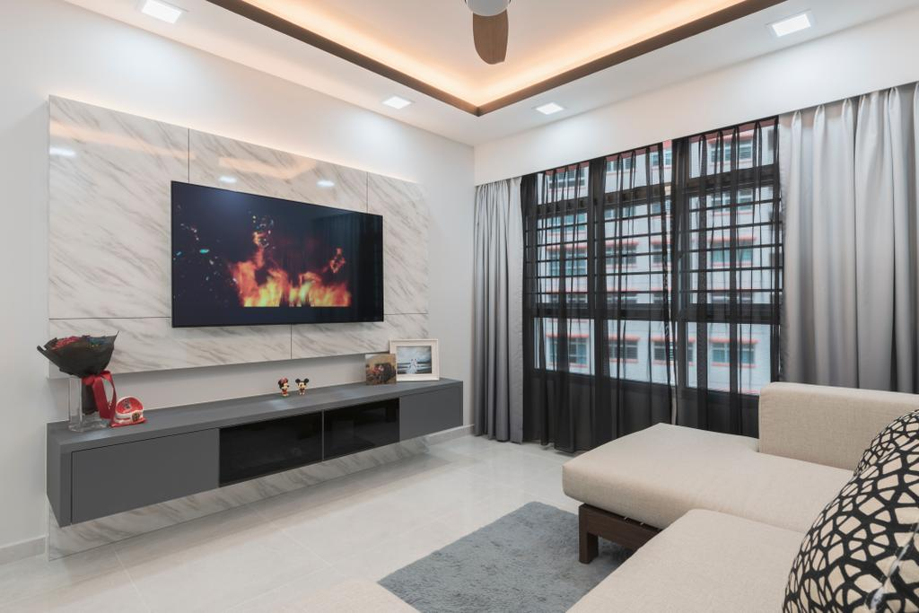 Scandinavian, HDB, Living Room, Bukit Batok West Avenue 9, Interior Designer, Design Identity