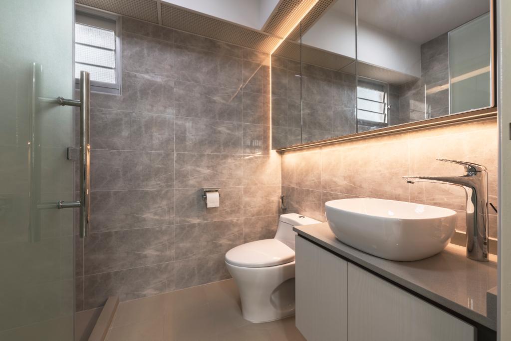 Scandinavian, HDB, Bathroom, Bukit Batok West Avenue 9, Interior Designer, Design Identity