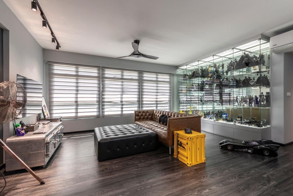Industrial, HDB, Living Room, Fernvale Link, Interior Designer, Design Identity