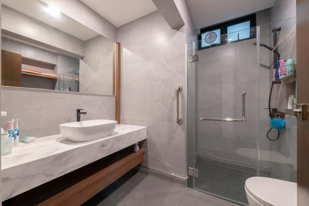 Scandinavian, HDB, Bathroom, Jurong East Street 21, Interior Designer, Design Identity