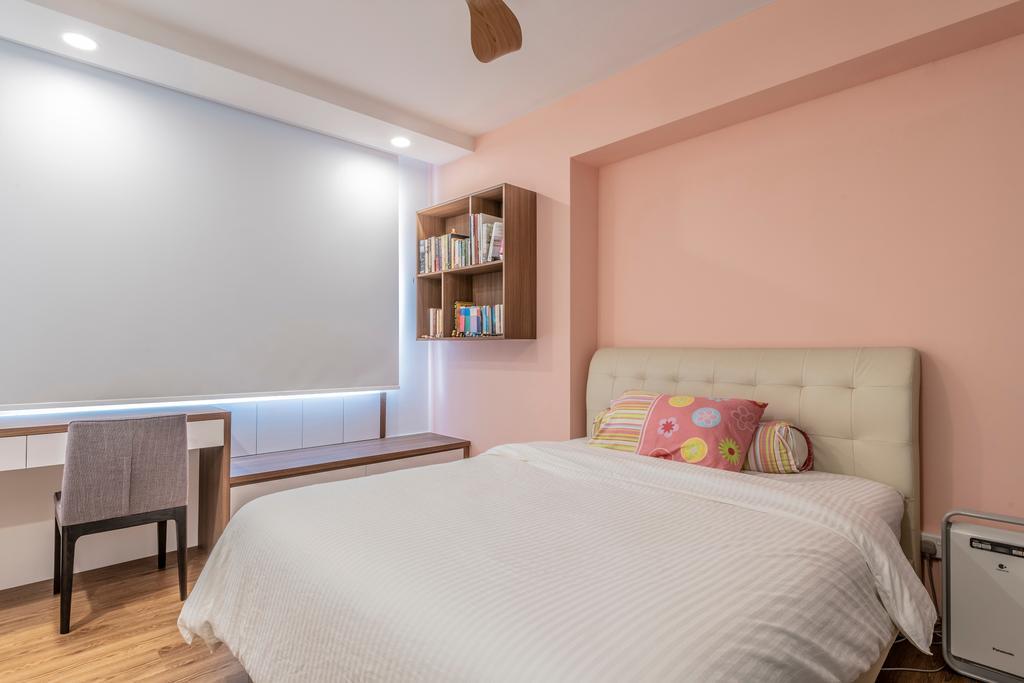 Scandinavian, HDB, Bedroom, Jurong East Street 21, Interior Designer, Design Identity