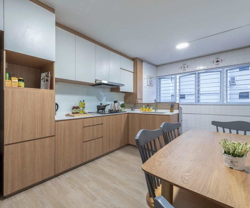 Scandinavian, HDB, Kitchen, Jurong West Street 41, Interior Designer, Design Identity