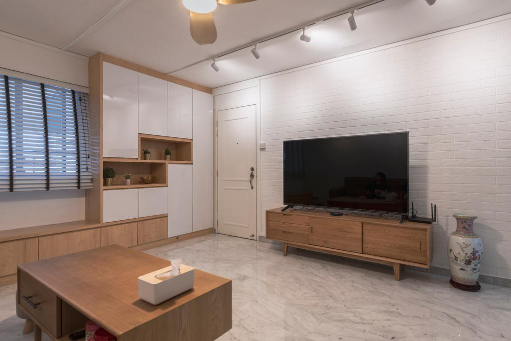 Scandinavian, HDB, Living Room, Jurong West Street 41, Interior Designer, Design Identity