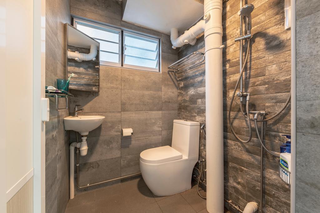 Scandinavian, HDB, Bathroom, Jurong West Street 41, Interior Designer, Design Identity
