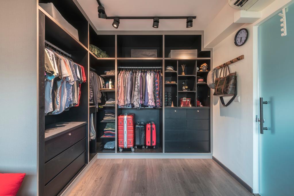 Industrial, HDB, Bedroom, Punggol Field, Interior Designer, Design Identity, Modern