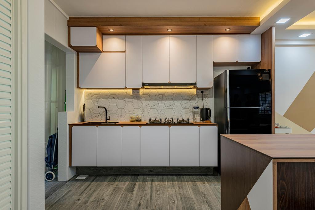 Modern, HDB, Kitchen, Woodlands Avenue 1, Interior Designer, Design Identity
